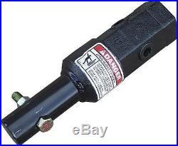 Skid Steer/ Mini Skid Steer/Excavator Auger Adapter 2 Hex 2 Round