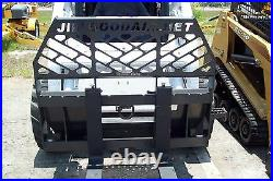 Skid Steer Pallet Forks by Bradco, High Back, 4000 Lb Rated, 2 Steps, Chain Hook, New