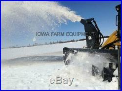 Skid Steer Snow Blower, Virnig 84 High Flow, 33-42GPM, Paddle-Style Auger