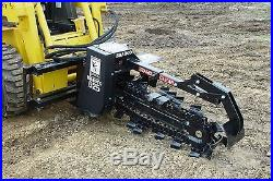 Skid Steer Trencher Bradco, 625 Digs 36 Deep, 6 Wide, 2 Position, Ship Same Day