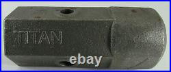 Titan SkidSteer Auger Bit Repair Hub 2 Hex Female 5/8 and 3/4 Pin Holes