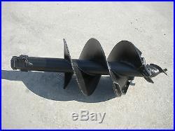 Toro Dingo Mini Skid Steer Attachment Hex 15 Auger Post Hole Bit Ship $99