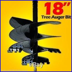 Tree Auger Bit 18 Fits All Skid Steer Augers with 2 Hex Drive, 30 Day Delivery