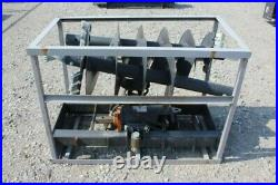 Unused JCT Skid Steer Hydraulic Post Hole Auger Digger with 18 and 12 Augers