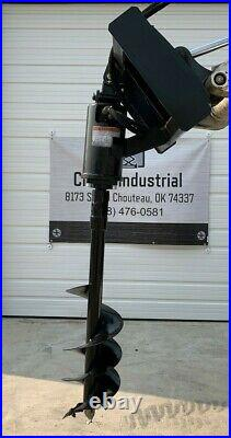 Unused Wolverine Skid Steer Attachment Hydraulic Auger with2 bits Agriculture