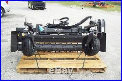 Volvo Skid Steer Harley Landscape Power Rake, M6H 6' Hydraulic Angle, In Stock